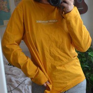 Yellow Abercombie & Finch Long sleeve